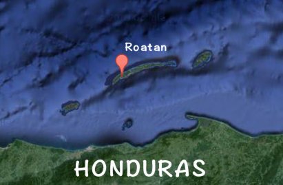 Roatan - off the coast of Honduras.