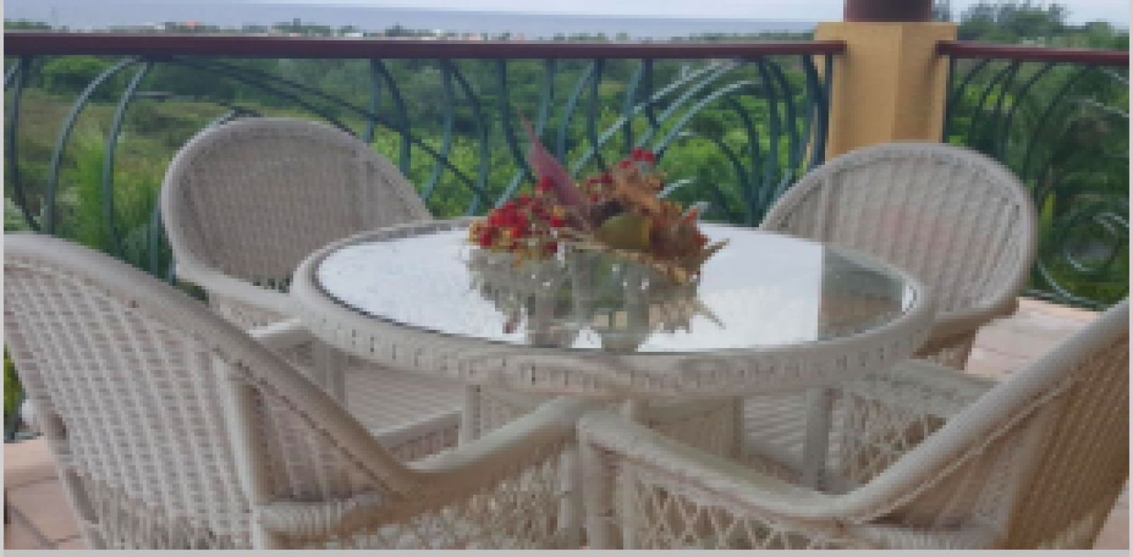 Entertain whilst enjoying the views and breezes.