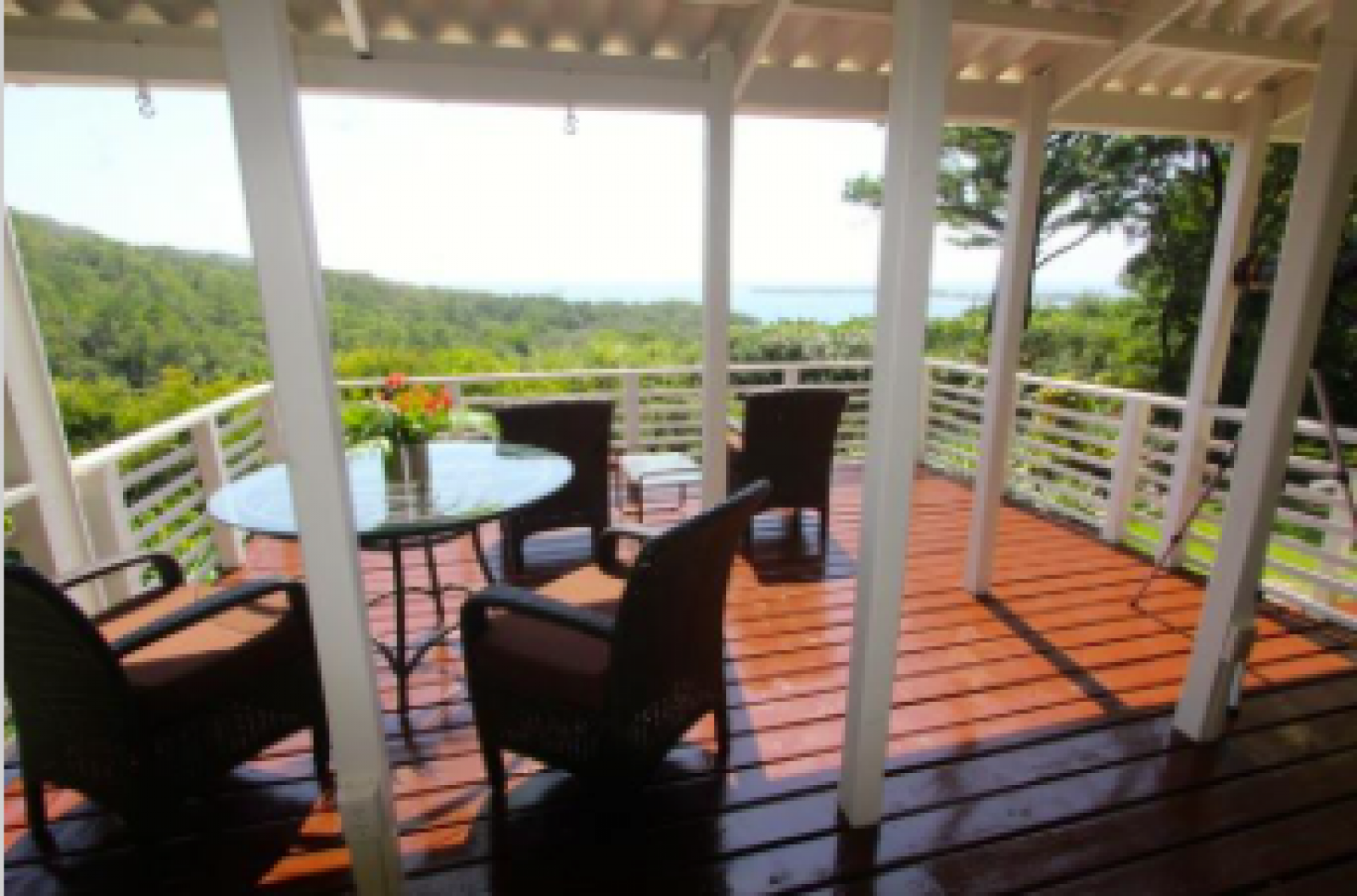 Perfect deck for entertaining and watching sunsets.