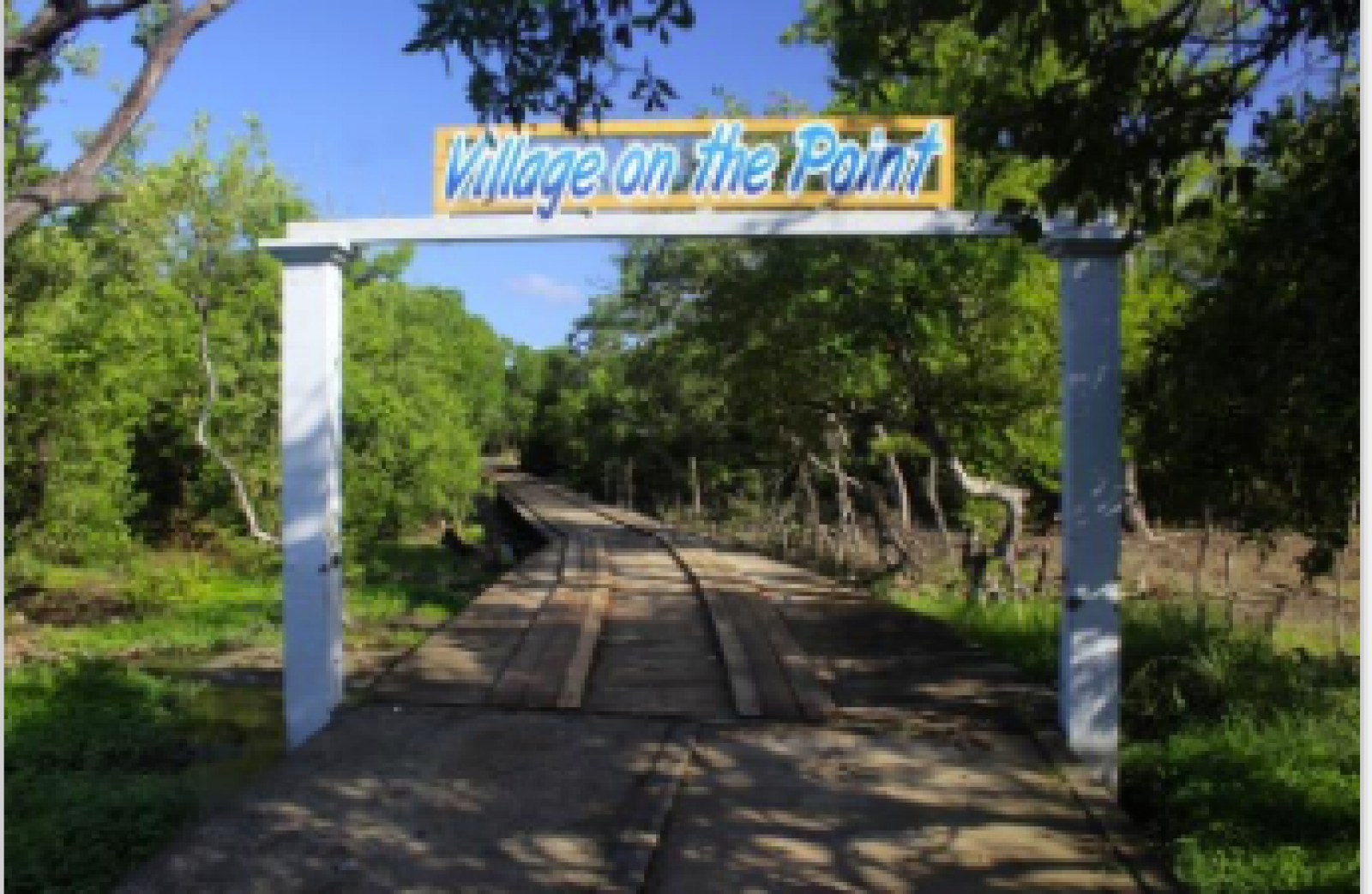 Village on the Point - small community entrance