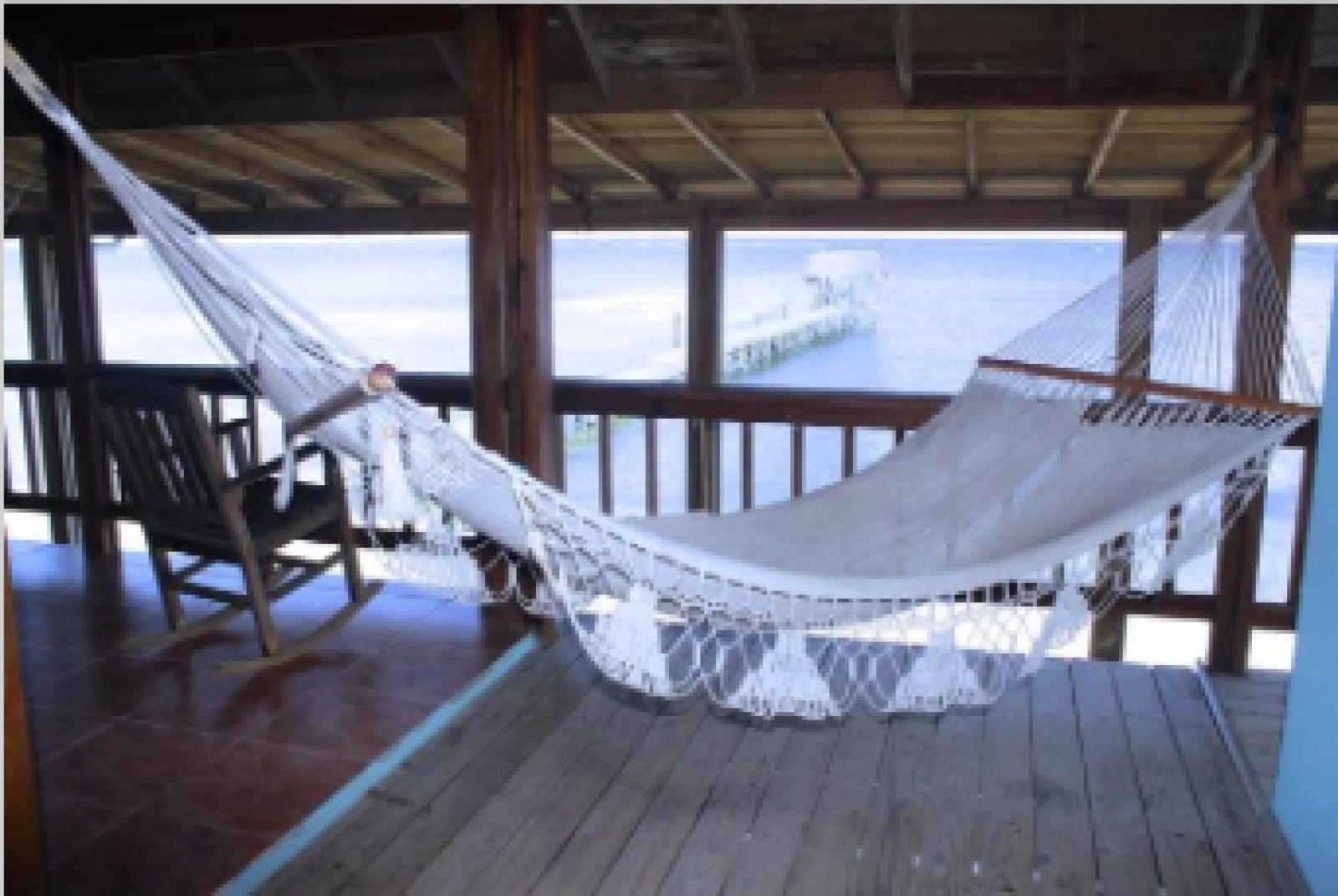 Hang in a hammock on the deck.