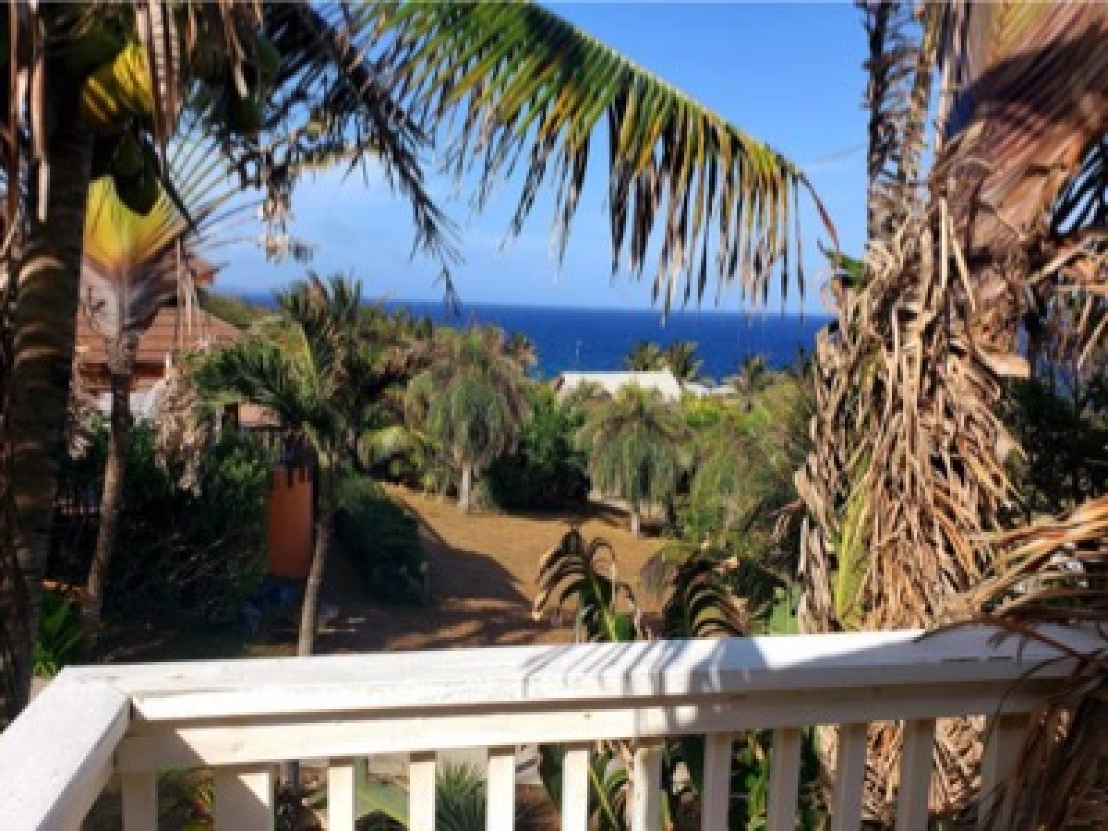 Views out to the ocean with tropical breezes most year round and views of the mainland mountains on clear days.