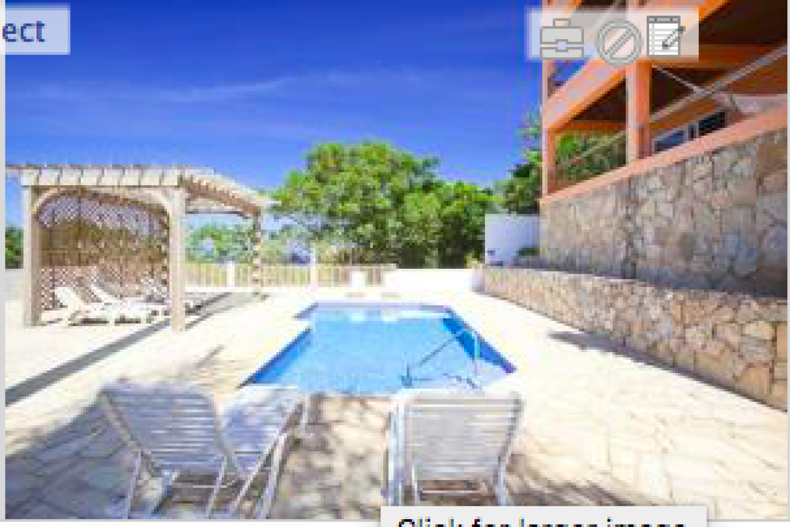 Enjoy the seclusion and peace around the communal pool.