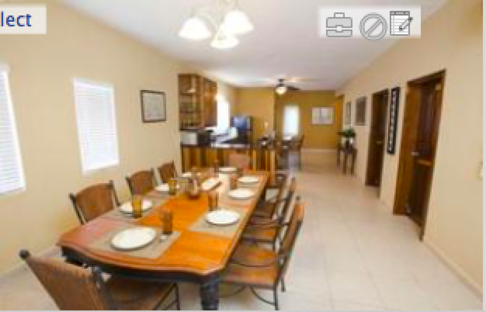 Large dining area perfect for indoor entertaining.